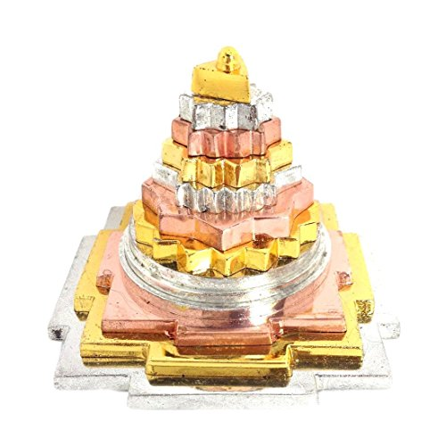 Odishabazar Copper and Other Mix Metal Meru Shree Yantra Shri Yantra Shri Laxmi Yantra Lakshmi Yantra With 3 D Cutting (Yantra Shree Copper)