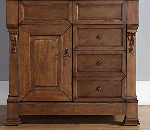 36 in. Single Cabinet with Drawers in Country Oak Finish from James Martin Furniture