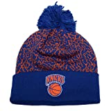 New York Knicks Mitchell & Ness Crack Pattern NBA Knit Hat with Pom