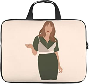 Neoprene Sleeve Laptop Handle Bag Handbag Notebook Case Cover Female Model Posing Illustration Portable MacBook Laptop/Ultrabooks Case Bag Cover 15-15.6 Inch