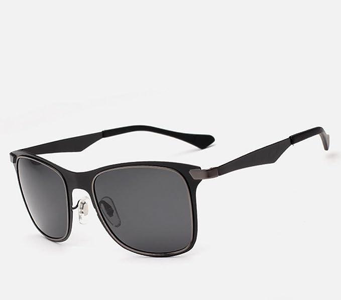 DZW Lunettes de soleil polarisées de lunettes de soleil des nouveaux hommes de avec la yourte , black