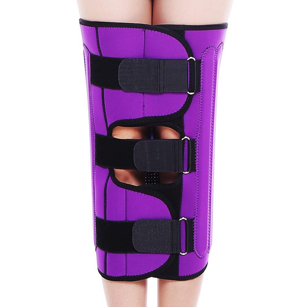 Leg Straightener Straps To Correct O/X Type Leg Correction Belt Band Beauty Leg Straighten Tape Bandage Adjustable Double Belt Strap Fixing (Color : Purple, Size : S)