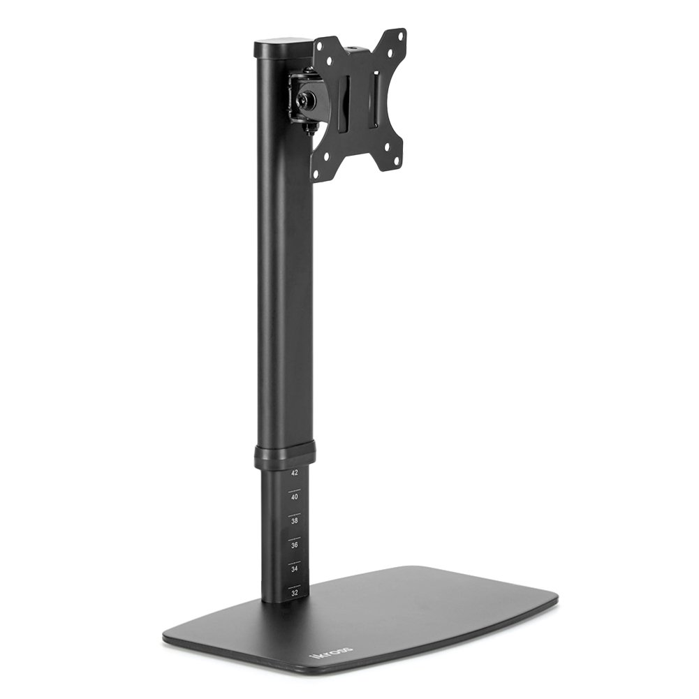 iKross Single Monitor Desk Mount with Free Stand Base/Tool Free Height Adjustment/Detachable VESA Plate for 13-27 inch LED/LCD VESA Screen 885157000130