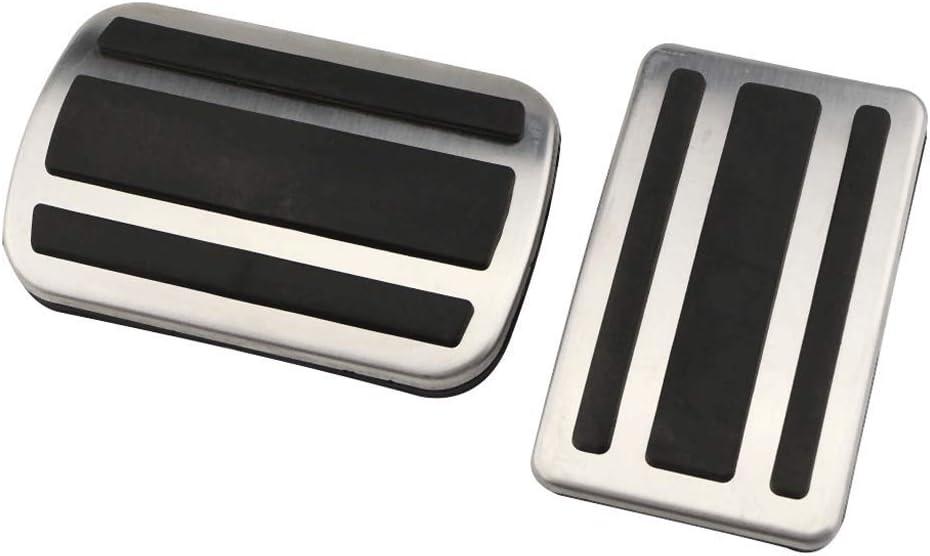YCGLX Acier Inoxydable Voiture P/édale Tampon pour Peugeot 308 3008 408 at MT Car Repos Frein Acc/él/érateur Embrayage Repose-Pieds Adapt/ée Antid/érapant Accessoires