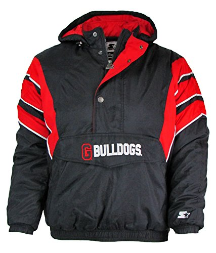 STARTER Georgia Bulldogs Mens Size Large 1/4 Zip Winter Jacket AUGR 50 L (Jacket Georgia Starter)