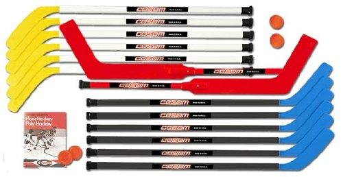 Cosom By Cramer 43 Inch Junior Hockey Sticks for Floor Hockey and Street Hockey, 20 Piece Set, Standard Shaft,