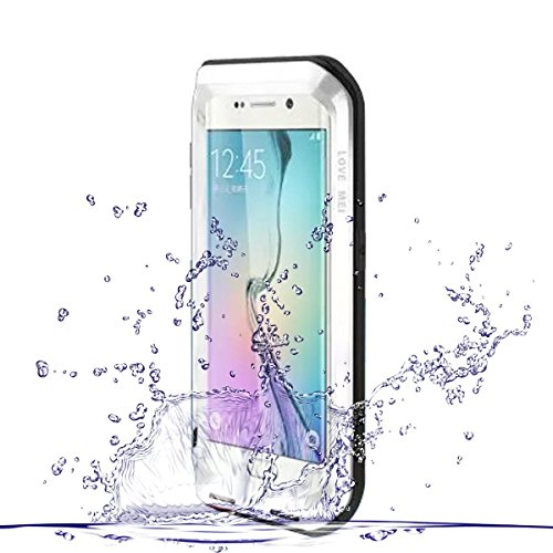 Galaxy S6 Edge Case, HM-ANT Heave Duty Love MEI Aluminum + Silicone Impact Protection Waterproof Case Shockproof Rugged Edge Waist Metal Aluminum Case Cover for Samsung Galaxy S6 Edge - Free Delivery Hm