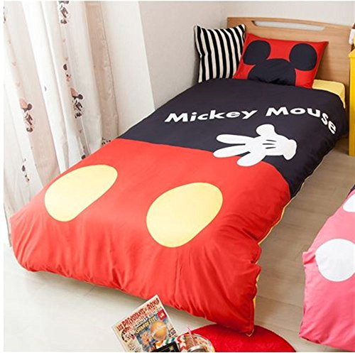 Disney Mickey Duvet cover Sheets Pillow case three-piece set for Twin sized bed