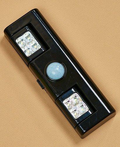 Adjustable Motion Sensor Black 8-LED Light