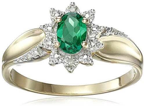 10k-Yellow-Gold-Oval-Gemstone-and-Diamond-Accent-Ring-Size-7