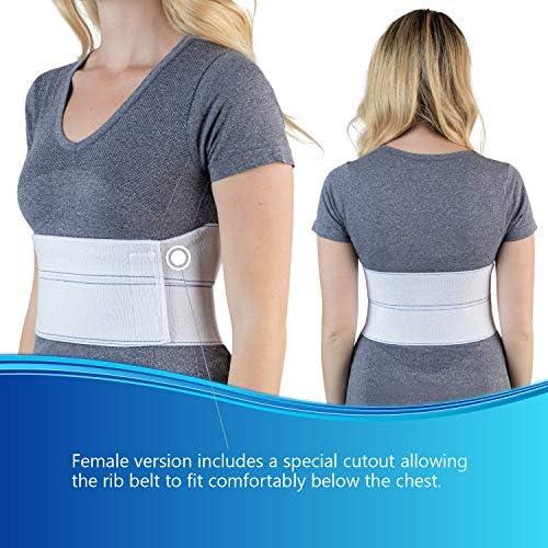 "NYOrtho Elastic Rib Support Belt - Torso Compression Binder Binder Rib Brace Treatment,Wrap for Natural Healing (Female - Fits 30""-45"" Chest) 3"