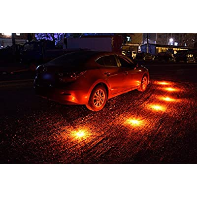 goofy LED Safety Flares Kit for Road Emergency Warning Flashing Signal Reflectors, for Car Motorcycle Boat,6 Pack: Automotive