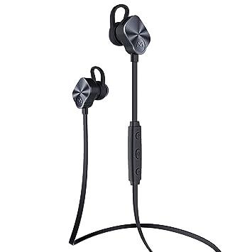 [Versión Última] Mpow. Auriculares Bluetooth 4.1 Deportivos In-ear, Estéreo, para Gimnasio y Running. Con Micrófono y Manos Libres. (8 Horas de Autonomía. Compatible con iPhone 6/6s, Samsung Galaxy S6 y Móviles An