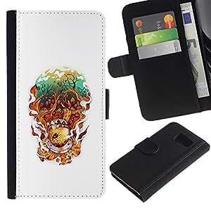 YiPhone /// Tirón de la caja Cartera de cuero con ranuras para tarjetas - Resumen astonaut - Sony Xperia Z3 Compact