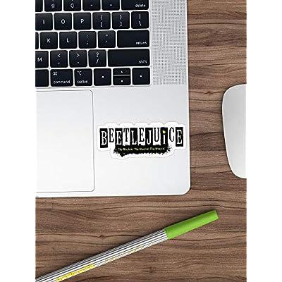 B. Strange Mall Beetlejuice Musical Broadway Logo Stickers (3 Pcs/Pack): Kitchen & Dining