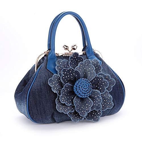 Rhinestones Flower Womens Multiple Top Handle Purses and Handbags Satchel Tote Bag Fashional Shoulder Bags
