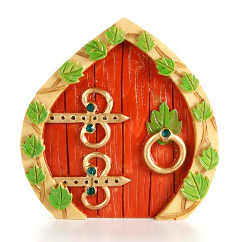 Resin Fairy Garden Door 3.75 x 3.875 x .375 Inches