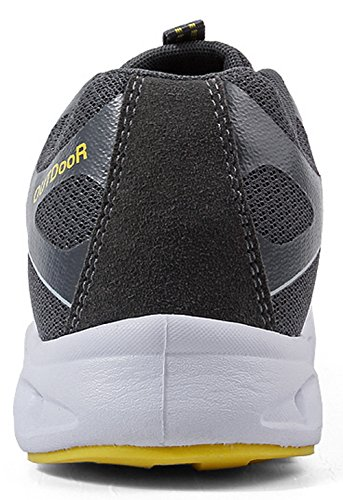 Sneaker 36 Ultraleicht Dunkelgrau Atmungsaktiv mit 45 Outdoorschuhe SEECEE Turnschuhe Farben Unisex EU 6 wqA1BnxU