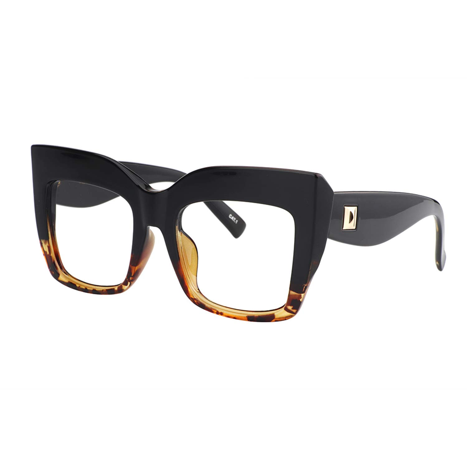 92d33ea52d91 Amazon.com: Zeelool Vintage Oversized Thick Cat Eye Glasses for Women with  Clear Lens Alberta FP0668-02 Tortoise: Clothing