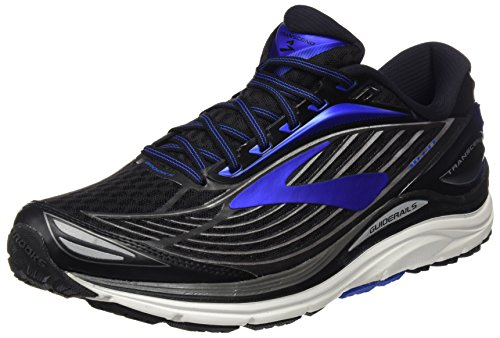 Brooks Men's Transcend 4 Black/Electric Blue/Silver 8.5 D US