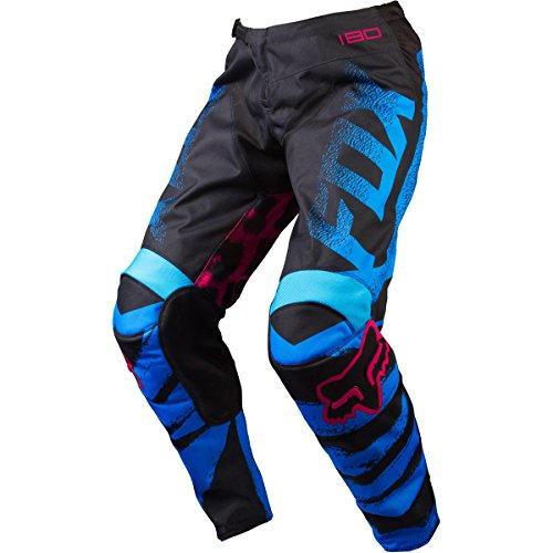 Fox Racing 180 Kids Girls Off-Road Motorcycle Pants - Blue/Red / Size 5