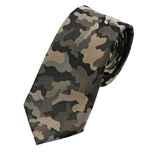 Skinny Necktie Camouflage Tie,For Business Formal Casual Unisex Men - Camouflage Necktie