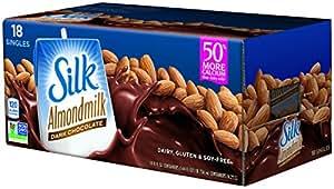 Silk Pure Almondmilk Dark Chocolate, 8 Ounce, 18 Count