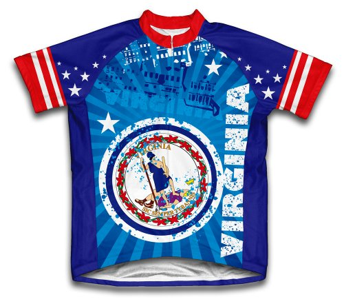 - ScudoPro Virginia Short Sleeve Cycling Jersey for Men - Size XL Blue