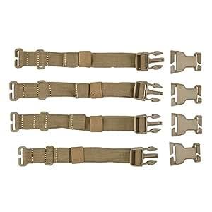 5.11 Tactical Rush Tier System - Correas de sujeción con hebillas para mochilas (4 unidades), color marrón