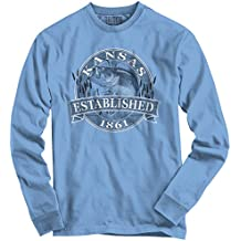 Kansas State The Sunflower State Bass Fishing Gift Ideas Cool Long Sleeve T