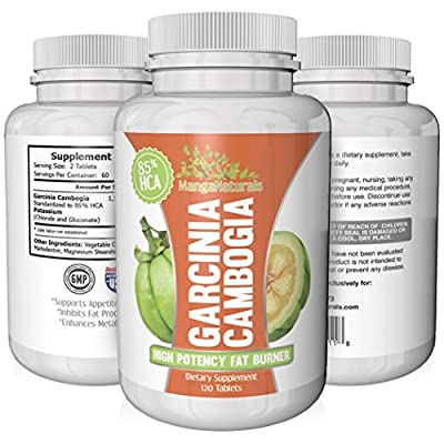 85% HCA Garcinia Cambogia Extract (New Highest Potency) - Pure & Natural Weight Loss Supplement - Highest Dosage & Best Formula - Fully Guaranteed by MangaNaturals