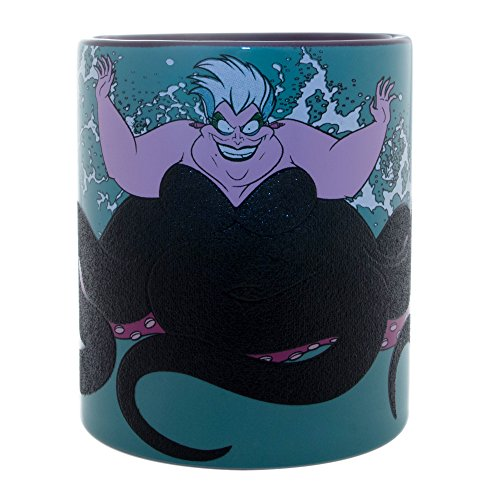 Silver Buffalo DV120332G Disney's The Little Mermaid Villain Ursula Splash Glitter Ceramic Mug, 14 oz, Multicolor