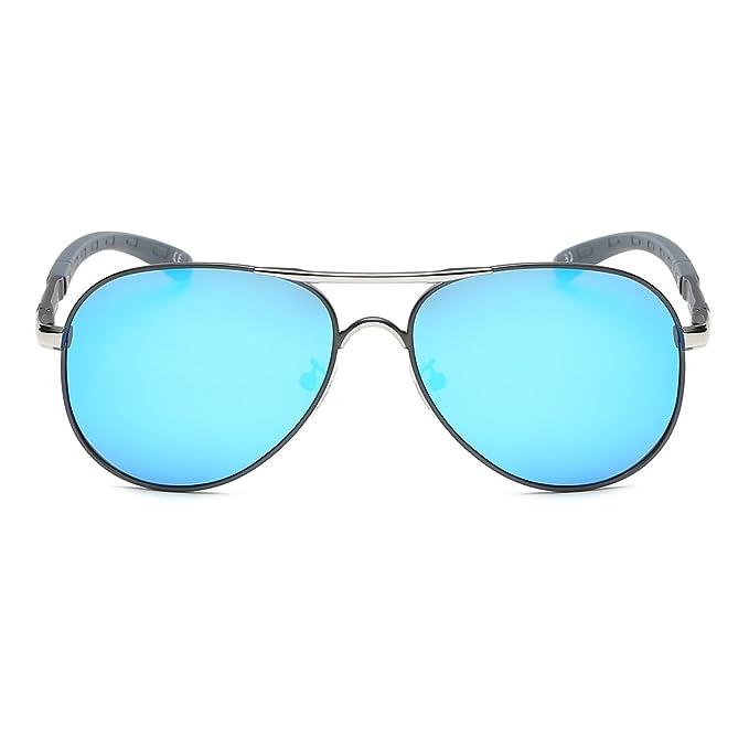 Kimorn Polarisé Lunettes De Soleil Hommes Rétro Métal Cadre 5 Couleurs Des lunettes K0553 (Or&Noir) X0I60UwB