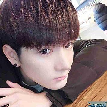 Amazon Korean Boy Short Hair Oblique Bangs Hairstyle Handsome