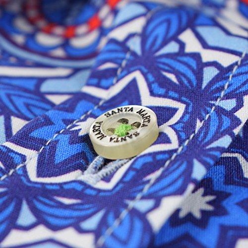 Corte Mujer Santa Estampado Entallado Camisa Mandala Marta Sm De Para YqzWBz