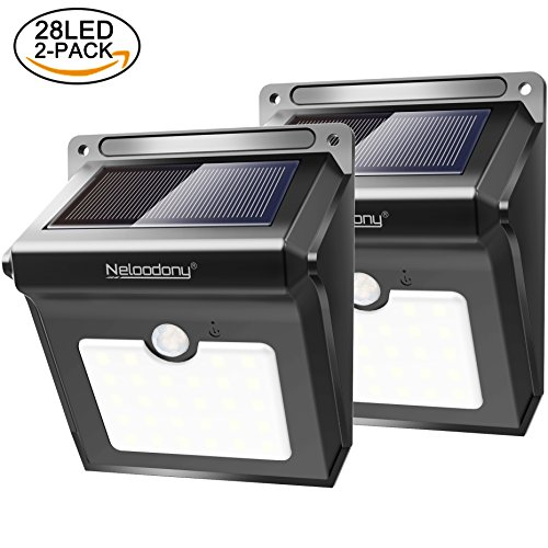 Neloodony Solar Lights 28 LED Motion Sensor Solar Security