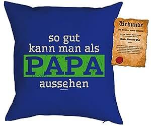 Vater especial Día Cojín en Royal Incluye relleno y Schöner Escrituras: So gut kann man como Papa aspecto