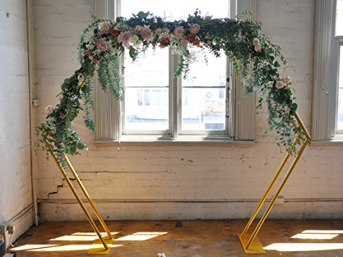 Hexagonal Gold Wedding Ceremony Arch - Beautiful on-Trend, Sturdy, Classic Elegance, Easily Constructed and dismantled, Handy Carry Bag Perfect for Location Weddings or Events