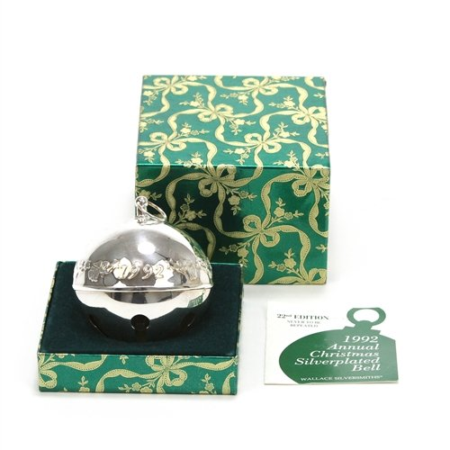 Wallace Sleigh Bell Silverplate - 1992 Sleigh Bell Silverplate Ornament by Wallace