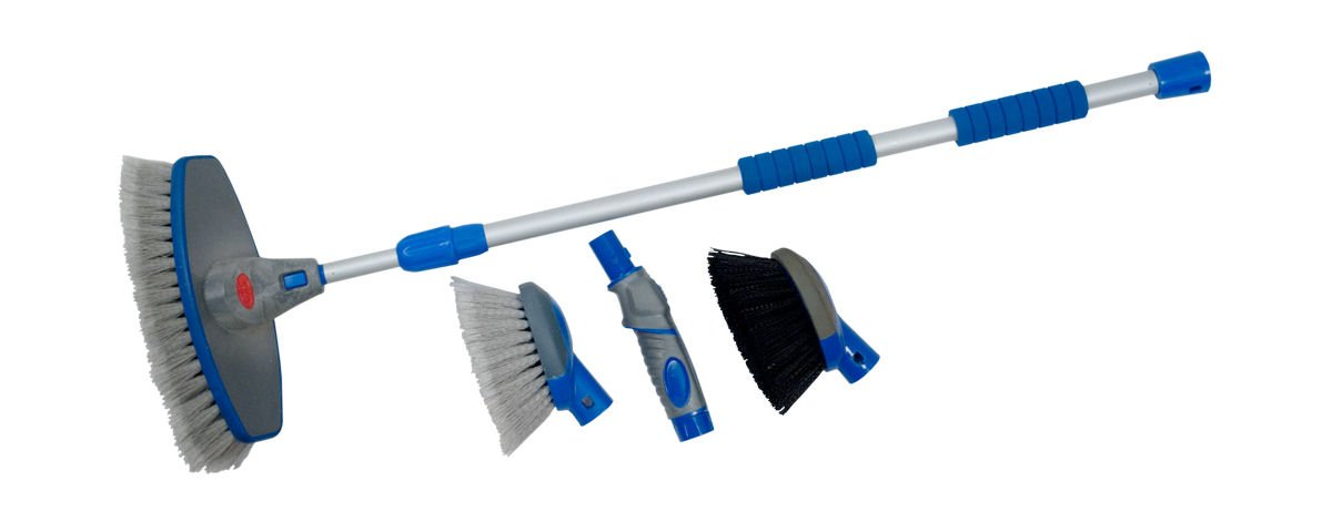 Detailers Choice 5371K 4-in-1 Flow-Thru Brush and Cleaning System Detailer/'s Choice