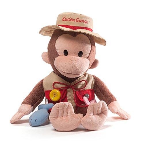GUND Curious George Teach Me Fisherman Monkey Stuffed Animal Plush, 16