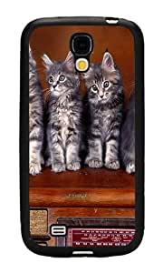 Samsung Galaxy S4 Case, Personalized Sweet Kittens TPU Hard Cover Case for Samsung Galaxy S4 Black