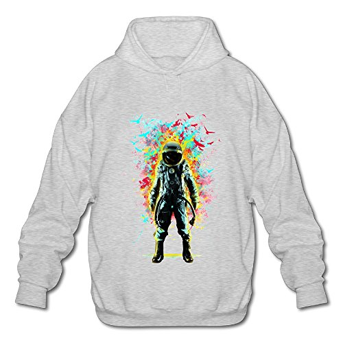 TOMM Men's Subconscious Inner Space Casual Hoodie With No Pocket Ash XX-Large