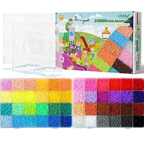 Fuse mini Beads de 2.6mm  48 colores brillantes total 24000
