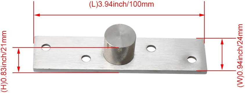 1 Pair Stainless Steel Pivot Hinges 100mm for Door Sliver