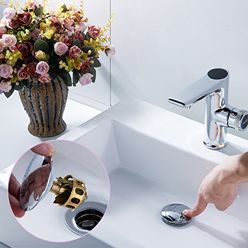 REGALMIX Bathroom Sink Drain, Vessel Sink Pop Up Drain With Detachable Basket Stopper,Anti-Explosion And Anti-Clogging Drain Strainer, Sink Drain Assembly Without Overflow Polished Chrome, RWF082A.