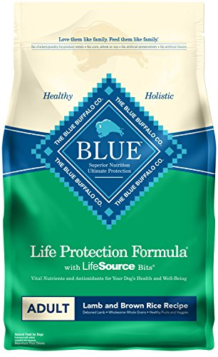 Blue Buffalo Life Protection Formula Natural Adult Dry Dog Food, Lamb and Brown Rice 6-lb