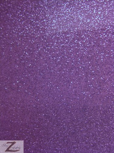VINYL FAUX FAKE LEATHER SPARKLE GLITTER FABRIC - Purple - 54
