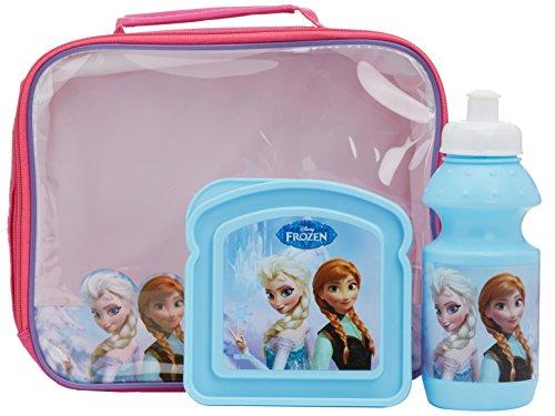 Disney Frozen 3teilig Lunchtasche/Flasche Und Sandwichbox 3er Set