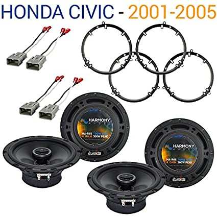 2001 honda civic speaker dimensions